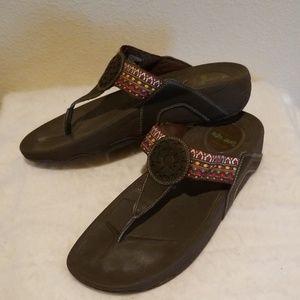 Skechers Tone Ups Brown Sandal Sz. 11